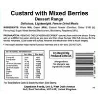 Expedition Foods Freeze Dried Rations - Dessert - 450cal